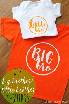 DIY Big Brother Little Brother T-Shirts at   GingerSnapCrafts.com #DIY #tshirt #heattransfervinyl