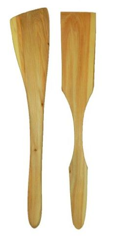 Spatula Set From Juniper Solid Wood, Strong and Durable, Heat Resistant, None Scratch Non-stick Pans, Made From Eco-friendly Green Organic One Piece Wood, Not Used Any Toxic Lacquer and Glue, We Offer Quality Kitchen Products That Will Last a Lifetime - Juniper Spatula Set: Strong, Functional and Eco-Friendly  There are numerous plastic kitchen utensils on the market. None of these products are considered Eco-friendly goods. For example, plastic spatulas may crack, break, or