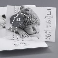Faire-part : cap sur le noir et blanc fotos Baby Co, Baby Birth, Baby Kids, The Babys, Newborn Pictures, Baby Pictures, Book Bebe, Foto Newborn, Foto Baby