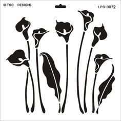 templates for calla lilies - Google Search