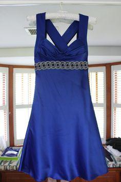 Blue Cocktail Dress #tracyscloset #fashion #shopping