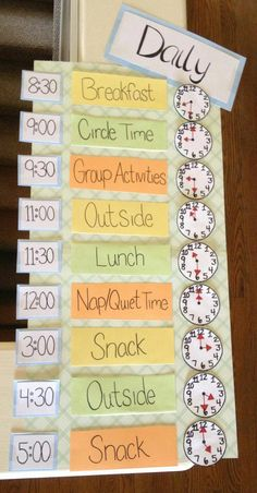 10 Home Daycare Schedule Ideas Preschool Rooms, Preschool Classroom, Toddler Classroom Decorations, Daycare Decorations, Classroom Layout, Classroom Themes, Kindergarten, Childcare Rooms, Toddler Daycare Rooms