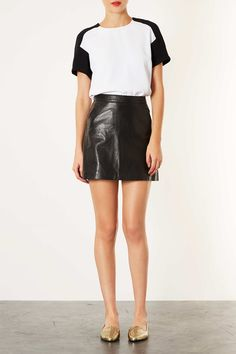 Leather A-Line Skirt - Skirts - New In This Week - New In - Topshop