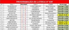 LOTECA. SHOW DE BOLA: RESULTADO FINAL DA LOTECA N° 639 E  LOTOGOL N° 670...