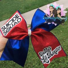 Suicide Squad Cheer bow