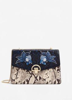 Chain patched bag - Women. Dope FashionFashion 2018Gucci HandbagsLeather  HandbagsPatchesMango ... 3fac9ac106215
