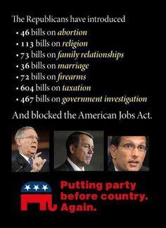 Republican Priorities...
