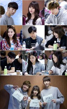 """Who Are You"" Starring Kim So Hyun, Yook Sungjae, and Nam Joo Hyuk Holds First Script Reading Who Are You School 2015, Sungjae Btob, Nam Joohyuk, Kim Sohyun, Drama School, Drama Fever, High School, Weightlifting Fairy Kim Bok Joo, Ulzzang Korean Girl"