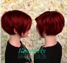 Red hair bob pixie cut choppy layers cute short cuts