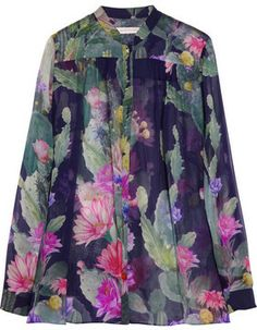 Matthew Williamson Cactus Garden printed silk-chiffon blouse on shopstyle.com