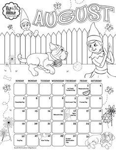 4 days till Christmas elf on the shelf coloring sheet ...