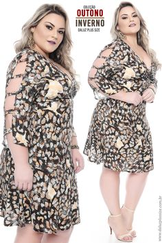 Vestido Plus Size Taciana Plus Size Fashion Dresses, Plus Size Fashion For Women, Plus Size Women, Plus Size Dresses, Plus Size Outfits, Fashion For Chubby Ladies, Curvy Girl Fashion, Curvy Outfits, Fashion Outfits