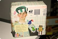 mail art package- http://www.pinterest.com/source/goodnightlittlespoon.com/