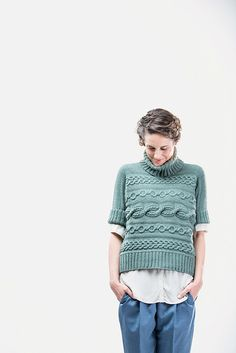 Ravelry: Sourcebook Sideways Pullover pattern by Norah Gaughan