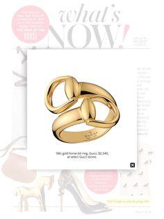 Gucci horse-bit ring