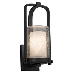 Justice Design Atlantic Clouds CLD-7581W-10 Small Outdoor Wall Sconce - CLD-7581W-10-MBLK-LED1-700