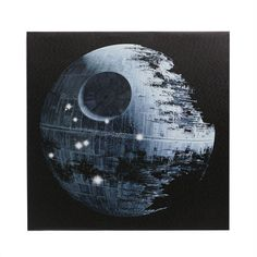 """Star Wars Destroyed Death Star Wall Canvas, 20"""" x 20"""" in color ."""