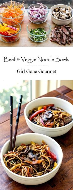 These noodle bowls are a great way to use up leftover veggies! | girlgonegourmet.com