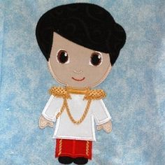 Charming Prince Little Cutie Machine Applique Embroidery Design, multiple sizes, including 4 inch