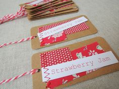 Scrappy gift labels