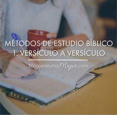 En el método de estudio versículo a versículo tratamos de seleccionar un pasaje breve de la Escritura y examinarlo en gran detall...