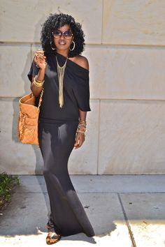 Black off shoulder maxi dress. I love this dress! It is one of my summer favs. I found mine on eBay