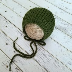 New Yarn Creations is now carrying handmade knit bonnets! These classic bonnets make the perfect photo prop!