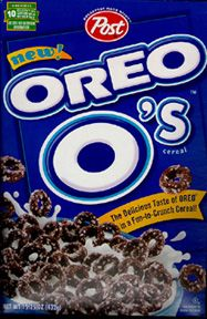 Oreo o's...not a very good cereal, but for some reason when I was a kid I LOVED this cereal!