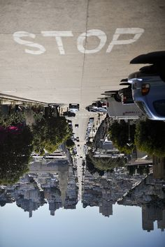 Untitled by Fred Thomas, via Flickr. Photo taken of a street in San Francisco. Looking at this photography give me a funny feeling, like I'm suddenly high in the air without anything underneath me. Great use of composition!