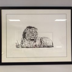 Original hand block printed Lion. It looks so stunning in this frame.