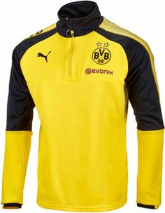 Borussia Dortmund Soccer Gear · Puma Borussia Dortmund 1 4 Zip Training Top  - Cyber Yellow  amp  Black  80198360c