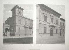 """Villino Bacchi Salerno (Arch. Ernesto Armò) - Palermo (a sinistra, scritta sbagliata """"Salembre"""")"""