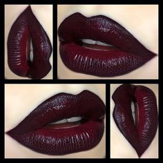 "❥ Kat Von D ""Homegirl"" Lipstick with MAC ""Currant"" Lipliner & NYX ""Black Lips"" Lipliner ❥"