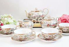 Nippon Tea Set: Tea Party Tea Set, Vintage Tea Set, Rare Tea Set, Ornate Tea Set, Oriental Tea Set, Pre-WWII Tea Set from Japan