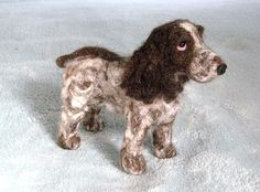 Needle Felted Dog~ Custom Pet Portrait ~English Cocker Spaniel~Lily~by GOURMET FELTED