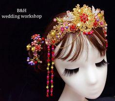 中式新娘鳳冠及中式髮簪 By B&H wedding workshop