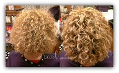 Stop Frizz. Make GREAT CURLS! Curly Cut and Style: The Curl Specialist. Hair texture is fine. Moisture-Lock Leave In Conditioner to add moisture to curls. Hair fizzes because it lacks moisture. Next, Climate Control Heat & Humidity Gel: medium hold and allows you  to go from air conditioning, out into the humidity & back without hair swelling or getting fizzy!. when curls were dried,  Shine Glaze serum to remove crunch and open curls! https://www.facebook.com/TheCurlSpecialist