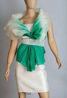 (Nuevo Ystilo) Organic Abaca Shawl (Manton)   Kultura Filipino Modern Filipiniana Gown, Entourage Gowns, Western Dresses, Modern Outfits, Costume Dress, Wedding Party Dresses, Scarf Styles, Fashion History, Traditional Dresses