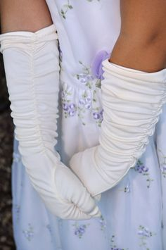 74b6300e14d Vintage Long White Gloves Youth or Teens Long by anything70s