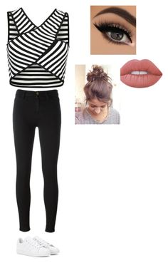 """Untitled #217"" by cheyennehester ❤ liked on Polyvore featuring 7 For All Mankind, adidas and Lime Crime"