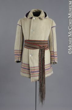 1870-1900 Canadian Snowshoe costume at the McCord Museum, Montreal - Although this is labelled as a snowshoe costume, it also comes close to rural French-Canadian winter dress in general.