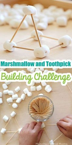 This marshmallow and toothpick building challenge is a fun activity for kids that builds STEM and STEAM skills. This marshmallow and toothpick building challenge is a fun activity for kids that builds STEM and STEAM skills. Babysitting Activities, Camping Activities, Fun Activities For Kids, Preschool Activities, Games For Kids, Camping Hacks, Nanny Activities, Camping Ideas, Educational Activities
