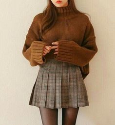 Korean winter outfits, skirt outfits for winter, mini skirt outfits, korean fashion fall Mode Outfits, Fashion Outfits, Fashion Trends, Fashion Clothes, Women's Fashion, Fashion Ideas, Dress Fashion, Dress Outfits, Mini Skirt Outfits