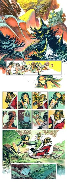 Enrique Fernandez | Pages from Nima comics