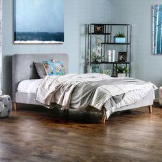 Furniture of America Celene Mid-century Modern Tufted Full Bed (Grey)