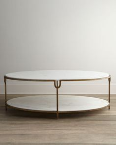 Olivia+Marble-Top+Coffee+Table+by+Global+Views+at+Neiman+Marcus.