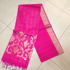 Buy LS8200007-VARNAM Handwoven Fine Linen Kora Silk-Magenta hot pink beauty, 750g online - Handwoven Kanchivarams,Soft Silks, Silk Cottons and Tussars!