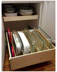 Diy Kitchen Storage, Kitchen Cabinet Organization, Kitchen Redo, Kitchen Pantry, Home Decor Kitchen, Kitchen Furniture, New Kitchen, Organization Ideas, Storage Ideas