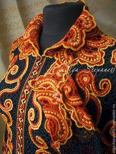 Мастер-класс по вязанию жакета в технике ирландского кружева #irishlace #crochet #lace #knitting #cardigan #jacket #irishcrochet #masterclass #masterclass irishlace