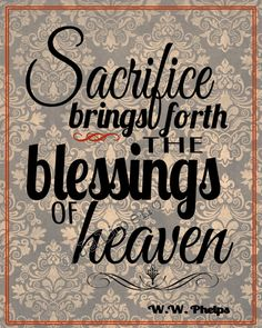 "Sacrifice Brings Forth the Blessings of Heaven - Christian religious printable INSTANT DOWNLOAD quote damask red Home Decor Wall Art from the LDS Mormon hymn ""Praise to the Man"" about the prophet Joseph Smith. Perfect for anyone's home or office decor. Great as a last-minute gift too! Check my shop for more printables! by Jalipeno, $4.00"